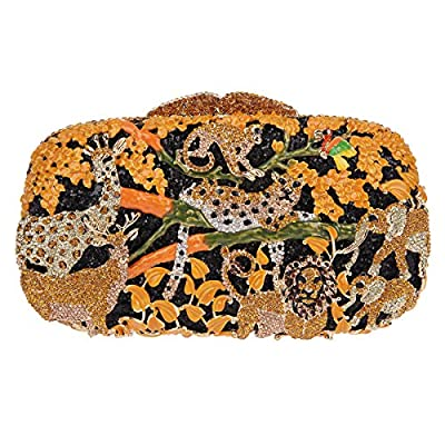 Bonjanvye Lovely and Trendy Style Forest Animal Pattern Clutch Purse