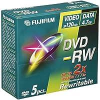 Fuji 5xDVD-RW (4,7 GB, 120 Min, 2x JC)
