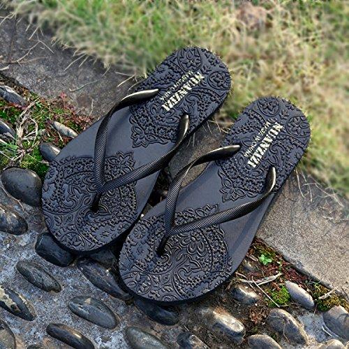 Tongs Casual Chaussures De Plage En Caoutchouc Anti-dérapant Résistant à L'usure Dames Pantoufles D'été Doux Pantoufles Femmes Sandales Fraîches