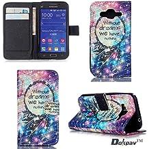 Dokpav® Samsung Galaxy Core Prime SM-G360 Funda,Ultra Slim Delgado Flip PU Cuero Cover Case con Interiores Slip compartimentos para tarjetas-Star caught sueño