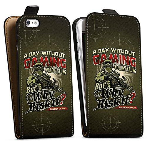 Apple iPhone X Silikon Hülle Case Schutzhülle Gaming Spruch Gamer Downflip Tasche schwarz