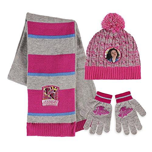 Disney Soy Luna - Set 3pz Inverno Cappello Sciarpa e Guanti - Bambina