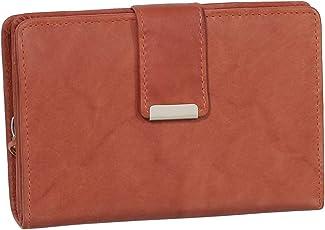 Damen Leder Geldbörse Damen Portemonnaie Damen Geldbeutel - versch. Farben - Geschenkset + Exklusiven Ledershop24 Schlüsselanhänger