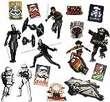 alles-meine.de GmbH 18 tlg. Set _ XL Fensterbilder -  Star Wars / Rebels  - Sticker Fensterstick..