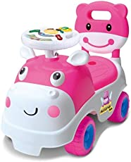 Toyshine My First Ride Hippo Rider Ride-on Toy with Music, 1-2 Years, Pink