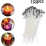 Kerzendochte, Flachdocht 150 Stück 15cm Kerze Wachskerzen Docht mit Erhalter für Kerzen Gießen
