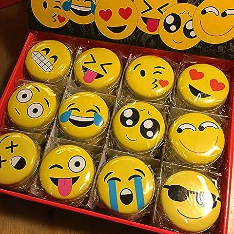 royllent 12Stück Mini rund Zinn Aufbewahrungsbox Schmuck, Candy Box Kleiner Aufbewahrungsboxen Dosen Medaille Ohrringe, Kopfhörer Geschenkbox Pille Fall