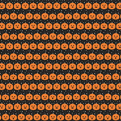 Halloween Stoffe - 0,5 Meter - Stoff - von Dani Mogstad für Riley Blake - 100% Baumwolle RBF862 Pumpkins on Black -