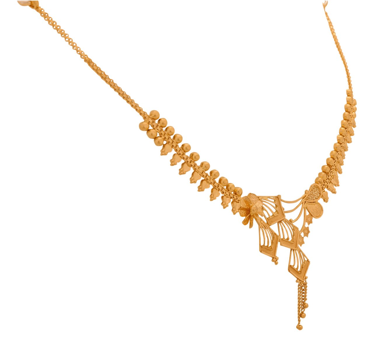 Senco Gold 22k Yellow Gold Multi-Strand Necklace for Women