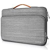 Tomtoc 360° Protective Laptop Sleeve Case for 13 Inch Surface Book | MacBook Air, Spill-Resistant 13 Inch Laptop Tablet Briefcase Cover, Gray
