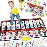 RenFox Piano Matte, Tanzmatten Klaviermatte Musikmatte Kinder, 5 Modi & 8 Instrumente Sounds Spielzeug Musik Matte, Keyboard Matten Spielteppich Baby Tanzmatte f¨¹r Kinder