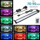 MAINLICHT Aquarium Light Remote Control Aluminum LED Lighting RGB Fish Tank Aquarium Lights