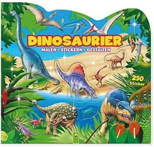 Kleine Op-leuchte (Dinosaurier: Stickern - Malen - Gestalten)