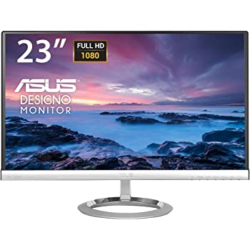 "Asus MX239H Monitor, 23"" Full HD IPS 1920x1080, 250 cd/m2, Nero/Argento"