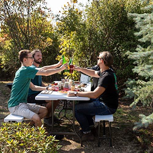 Relaxdays Gartentisch klappbar - 3