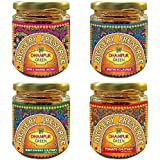 Dhampur Green Chutney Combo [Tomato Chutney, Mango Chutney, Tamarind Chutney,Methi Ki Launji,]880g