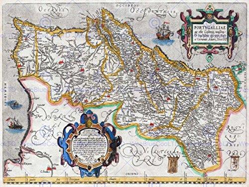 map-antique-portugal-iberia-atlantic-30x40-cms-fine-art-print-art-poster-bb8212