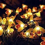 Solar Lichterkette 30 LED Solarbetriebene Wasserdichte Lichterketten Innen und Außen Dekoration Licht für Outdoor, Garten, Terrasse, Penthouse Haus, Party, Hochzeit, Hof (Warmweiß)
