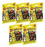 LEGO 71013 Minifiguren Serie 16 - Set aus 5 Tüten (Inhalt zufällig, ohne Vorauswahl!)