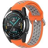 KOMI Correa de reloj de silicona, 20 mm, 22 mm, para mujeres, hombres, fitness, deportes, correa de repuesto para reloj intel