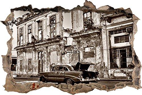 s Wanddurchbruch im 3D-Look, Wand- oder Türaufkleber Format: 92x62cm, Wandsticker, Wandtattoo, Wanddekoration (Hispanic Dekorationen)