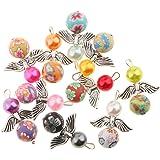 MagiDeal 10ciondoli assortiti con perline, in argento anticato, per collane, braccialetti, creazione di gioielli artigianali