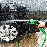 Auto Safety Tuyau d'arrosage souple et léger extensible jusqu'à 3 fois avec Connecteur de robinet Connecteur rapide et Suceur multifonctions....