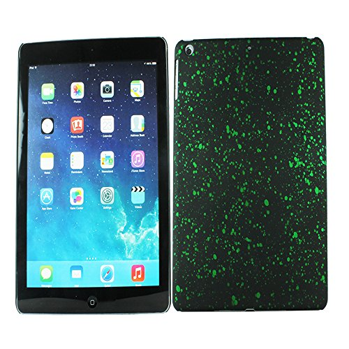 Heartly Night Sky Glitter Star 3D Printed Design Retro Color Armor Hard Bumper Back Case Cover For Apple iPad Air Tablet (iPad 5) - Nature Green  available at amazon for Rs.109