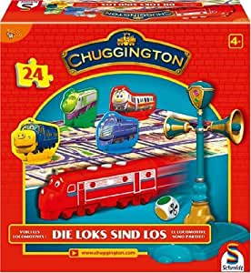 Schmidt - 40468 - Jeu de Société - Chuggington - Les Locomotives Sont Parties - 24 pieces