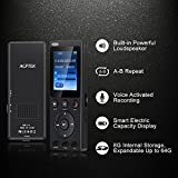 Multi-Functional-Voice-Recorder-with-18-Color-Screen-AGPTEK-A11-8GB-Rechargeable-Dictaphone-with-MP3-Player-for-Recording-Lectures-Interviews-Conversation-and-Meetings-Black