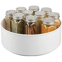 mDesign plateau tournant pour épices, condiments, etc. – rangement de cuisine pour placard, armoire, réfrigérateur, plan…