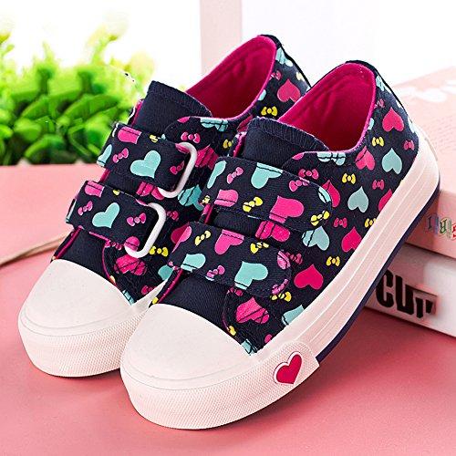 Scothen Kinderschuhe Sportschuhe Turnschuhe Halbschuhe Schuhe Kids Schuhe für Mädchen Canvas Kinder Schuhe Laufen Sport Baby Turnschuhe Sneaker Leinenschuhe Baby Segeltuch beiläufige Spitzeschuhe Schwarz