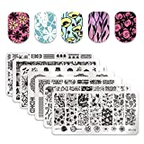Born Pretty 7Pcs Nail Art Template Stamping Plates Christmas Santa Claus Halloween Spider BPL026-L032
