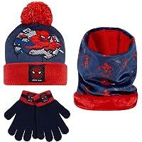 Marvel Spiderman Set Cappello, Guanti E Scaldacollo Bambino, Abbigliamento Marvel Bambino Originale, Idea Regalo Per…