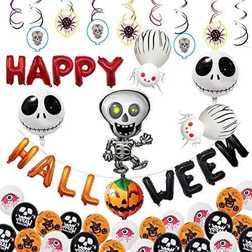 JH&MM Halloween Dekoration Kürbis Taro Aluminium Ballon Set Ghost Festival Mall Dress Up Dekoration Lieferungen Halloween Ballons,2 (Kostüm Luftballon Lieferung)