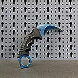 JARL - Réplique Couteau CS:GO IRL Karambit Blue Steel - Counter-Strike: Global Offensive CSGO - Collection, Décoration, Utilisation Polyvalente - Poignée Confortable Fibre de Verre, étui de Rangement