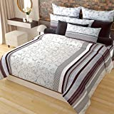 Home Candy 152 TC 3-D Microfiber Double Bedsheet with 2 Pillow Covers - Multicolour