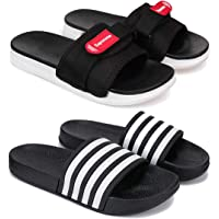 Zenwear Combo Pack of 2 Flip-Flops & Slippers for Men for Men
