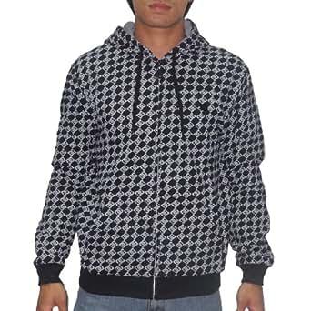 DC Mens Warm Surf & Skate Zip-Up Hoodie Sweatshirt Jacke Large schwarz & Grau