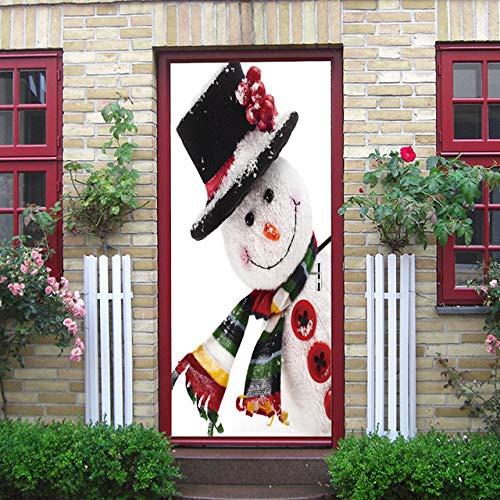 3D Christmas Sticker Weihnachtsbaum Weihnachtsmann Geschenk Pink Fireplace Snowman Road Sign Castle Wohnkultur Aufkleber a 77x200 cm Wolverine Harley Davidson