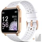Smartwatch, Reloj Inteligente Impermeable IP68 Hombre Mujer con Pulsómetro,Cronómetros,Calorías,Monitor de Sueño,Podómetro Pu