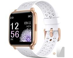 Montre Connectée Femmes,Montre Intelligente Homme,Bracelet Intelligent avec Calorie Counter Smartwatch Moniteur de Sommeil Fi