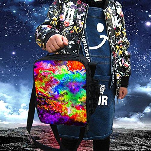 Yl Story Galaxy stelle 3D stampa borsa a tracolla Totes bambini impermeabile picnic sacchetti/borse per il pranzo Galaxy Star 5 Galaxy Star 1
