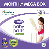 Himalaya Total Care Baby Pants Diapers Monthly Mega Box, Extra Large (162 Count)