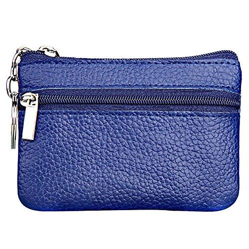 OURBAG donna da uomo, vera pelle con chiusura a Zip, portamonete Mini Key Purse-Custodia a pochette da regalo Salvadanaio, giallo (Giallo) - OURBAGZcSKzTrQA blu