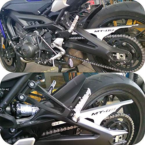 FidgetFidget Copricatena per Moto CNC in Alluminio per Yamaha MT-09//FZ-09 13-16