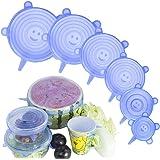 Coperchi elastici in silicone Coperchio flessibile riutilizzabile per alimenti da 6 confezioni Coperchi per contenitori di va