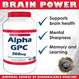 Alpha GPC, 300 mg, 90 Veggie Capsules - SHARP GPC - A Natural Source of Choline (1) by Natural BioScience (Nugema Research Brands)