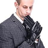 Herren Winter Lederhandschuhe von Acdyion für Touch Screen geeignet, Futter aus Kaschmir, Handschuhe aus echtem Leder