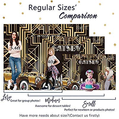 Allenjoy 7x5ft Durable Fabric The Great Gatsby Themed Backdrop for Adult Celebration Retro Roaring 1920 1920s Party Happy Birthday Wedding Decoration Pictures Background Photo Booth